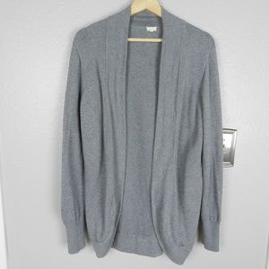 J. Crew Factory Gray Open Shawl Cardigan Size XL